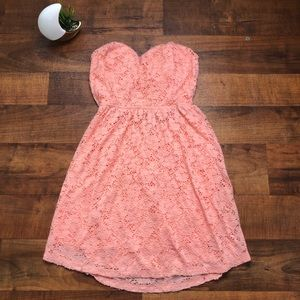 Rue 21 Juniors Strapless Coral Dress | Size Large